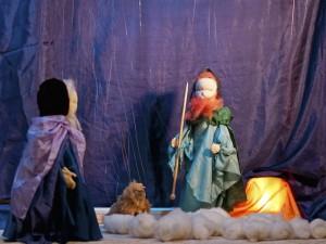 Marionettentheater-Weihnachtsgeschichte nach Selma Lagerlöf: Schäfer und Schafherde